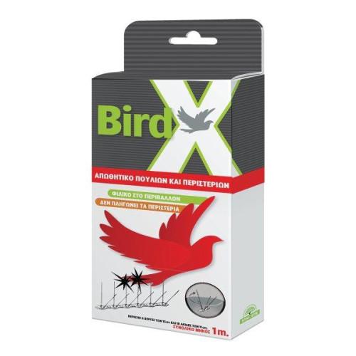 Απωθητικό πουλιών-περιστεριών 100cm με πλαστική βάση BIRDX