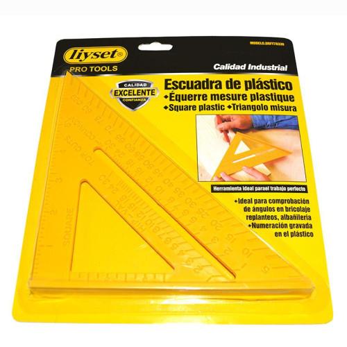 Πλαστικό τρίγωνο με πατούρα Liyset DRFY78330