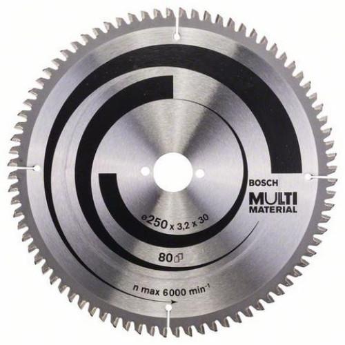 Δίσκος Multi Material 250x30 Z80 Αλουμινίου- Ξυλου Bosch 2608640516