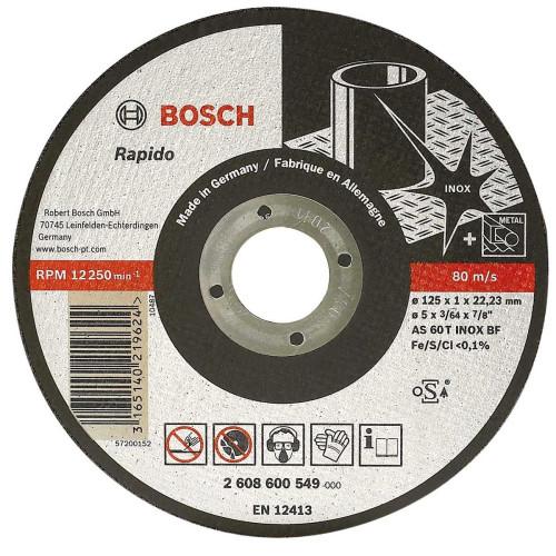 Δίσκος Κοπής Bosch125x1 ΙΝΟΧ-METAL fast cut expert inox 2608600549