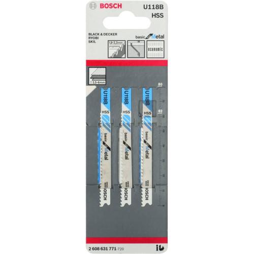 Λάμα για κοπή μετάλλου τύπου U BOSCH U118Β 80ΜΜ 3τεμ 2608631771