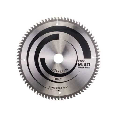Δίσκος Multi Material 254x30 Z80 Αλουμινίου- Ξυλου Bosch 2608640450