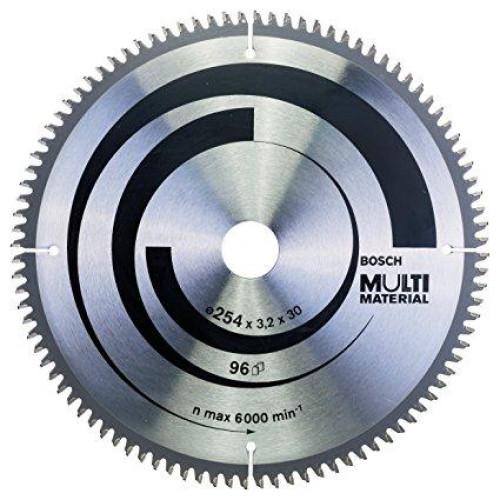 Δίσκος Multi Material 254x30 Z96 Αλουμινίου- Ξυλου Bosch 2608640451