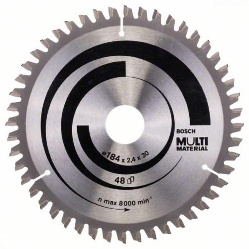 Δίσκος Multi Material 184x30 Z48 Αλουμινίου- Ξυλου Bosch 2608640506