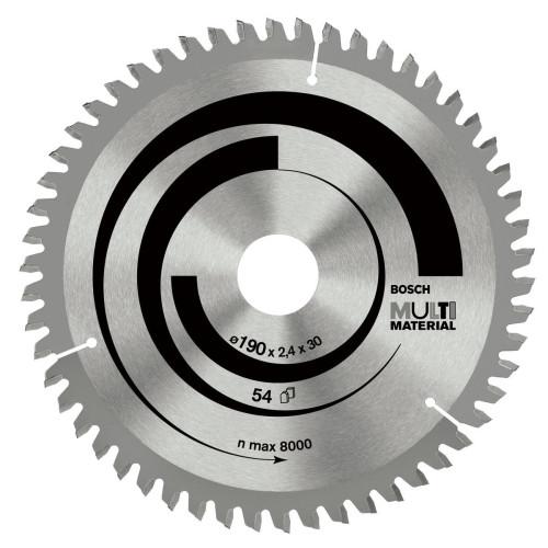 Δίσκος Multi Material 190x30 Z54 Αλουμινίου- Ξυλου Bosch 2608640509