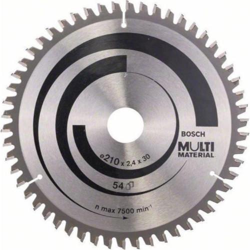 Δίσκος Multi Material 210x30 Z54 Αλουμινίου- Ξυλου Bosch 2608640511