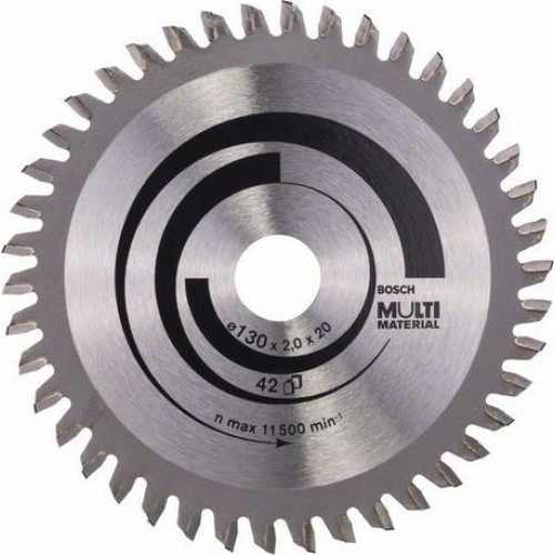 Δίσκος Multi Material 130x20/16 Z42 Αλουμινίου- Ξυλου Bosch 2608641195