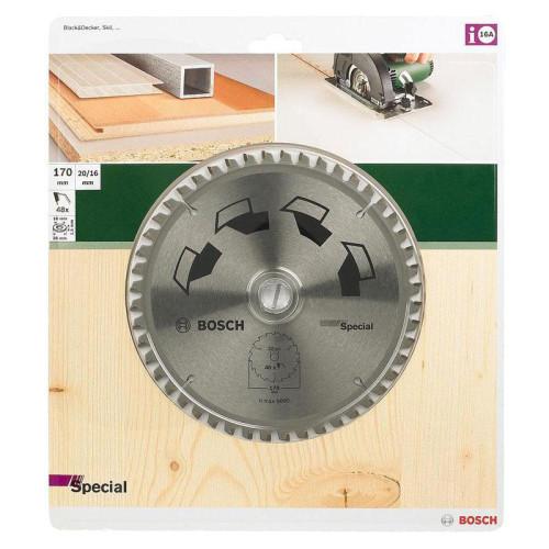 Δίσκος Multi Material 170x20/16 Z48 Αλουμινίου- Ξυλου Bosch 2609596888
