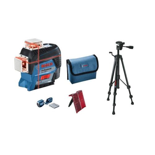 Γραμμικό Λέιζερ Bosch GLL 3-80C κόκκινη δέσμη με Πίνακα Στόχου και Τρίποδο BT150 0601063R01