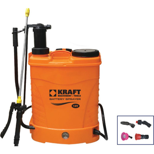 Ψεκαστήρας μπαταρίας/προπίεσης πλάτης 16Lt 12V KRAFT 621216
