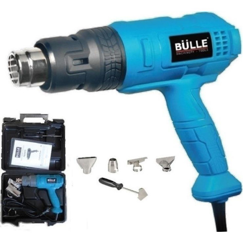 Πιστόλι θερμού αέρα 1800W με βαλιτσάκι κι εξαρτήματα BULLE 63494