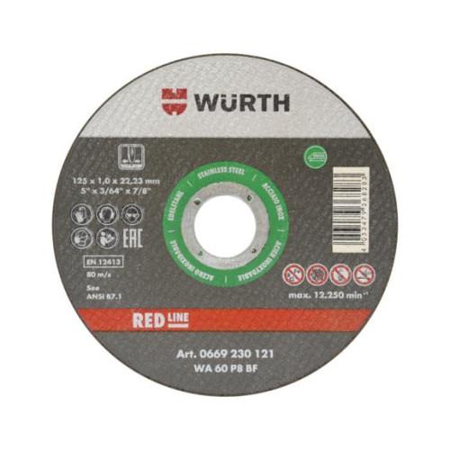 Δίσκος κοπής σιδήρου-Inox 125Χ1 10 τεμ. Wurth 0669230121