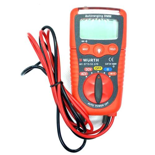 Πολύμετρο ψηφιακό mini 600VAC/DC WURTH 071553370