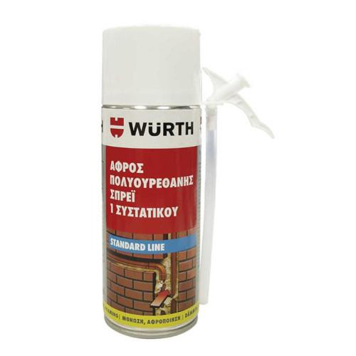 Αφρός Πολυουρεθάνης 1συστατικού Σπρέι 300ml Wurth 1892143