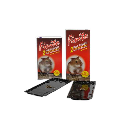 Ποντικοπαγίδα finito με κολλα  μεγάλη μαυρη χωρις δηλητηριο 2 τεμαχια