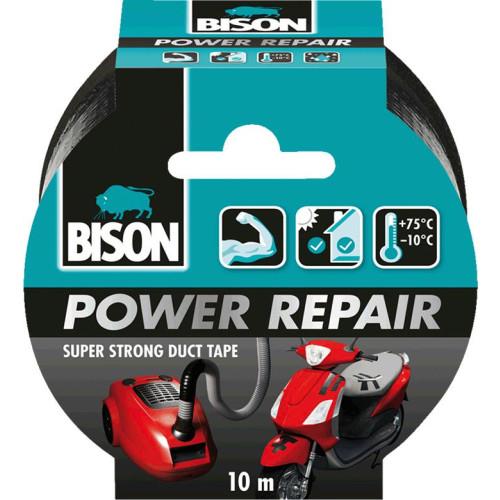Ισχυρή υφασμάτινη ταινία συγκόλλησης Power Repair Μαύρη 50mmX10m Bison