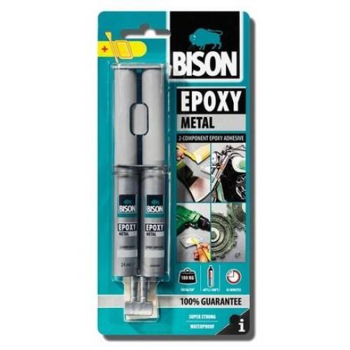 Εποξική Κόλλα για μέταλλο Bison Epoxy Metal 24ml 66628