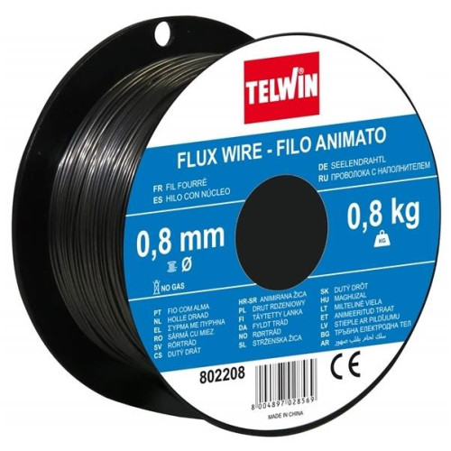 Σύρμα Ηλεκτροσυγκόλλησης Αργκον (Flux) 0.8mm  0.8Kg TELWIN