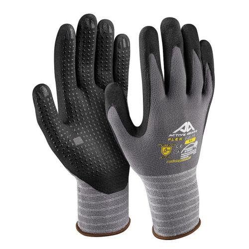 Γάντια εργασίας με προεξοχές Νο10 XL Νιτριλίου Flex F3140 Active Gear