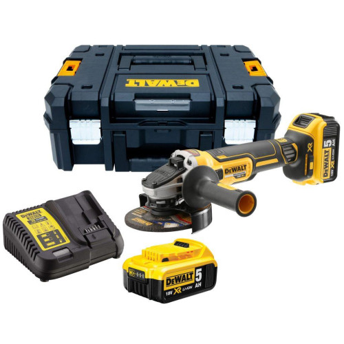 Γωνιακός τροχός XR Brushless 125mm (2x5.0Ah) Dewalt DCG405P2