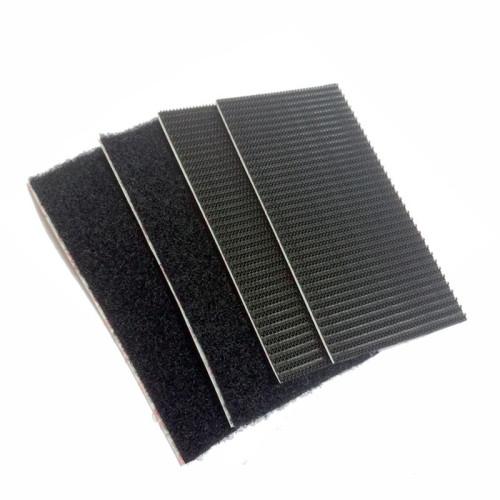 Ταινία αυτοκόλλητη μαύρη Velcro 5cmX10cm HEAVY DUTY / Βαρέως τύπου 2 Σετ 60239