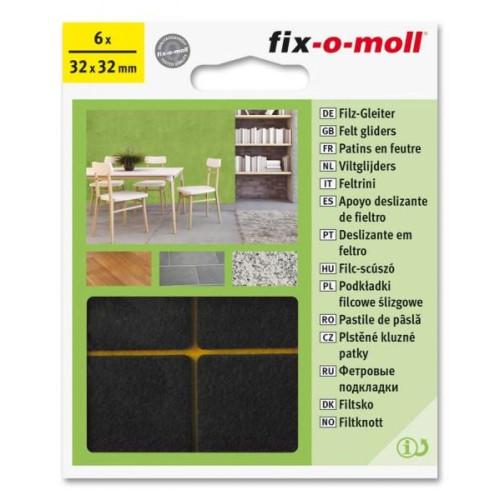 Τσοχάκια συνθετικά αυτοκόλλητα 32cmx32cm καφέ FIXOMOLL 3566364