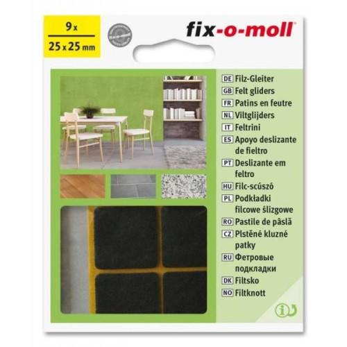 Τσοχάκια συνθετικά αυτοκόλλητα 25x25 9τεμ. καφέ FIXOMOLL 3566362