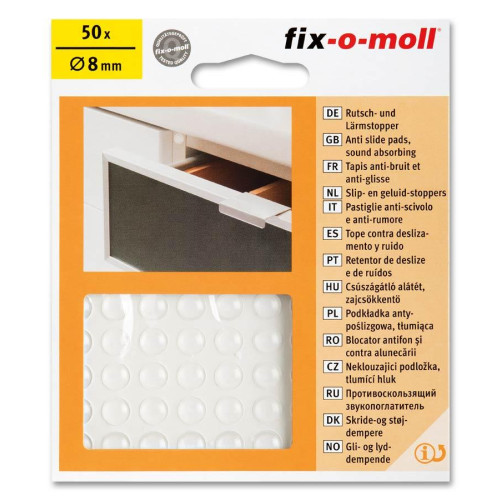 Αντικρουστικά Προστασίας Διάφανα Fixomoll 50τμχ 8mm 3566423