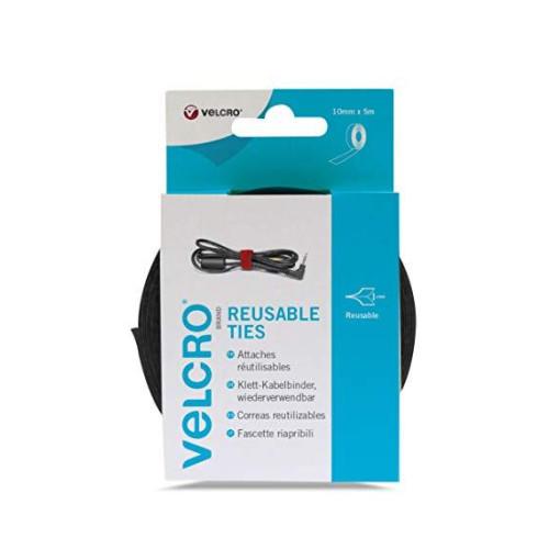Ταινία δεσίματος καλωδίων μαύρη Velcro 10mmX5m 60253